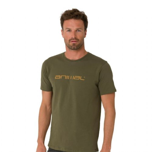 ANIMAL MENS T SHIRT.NEW CLASSICO ARMY GREEN COTTON SHORT SLEEVED TOP TEE 9W 3/86